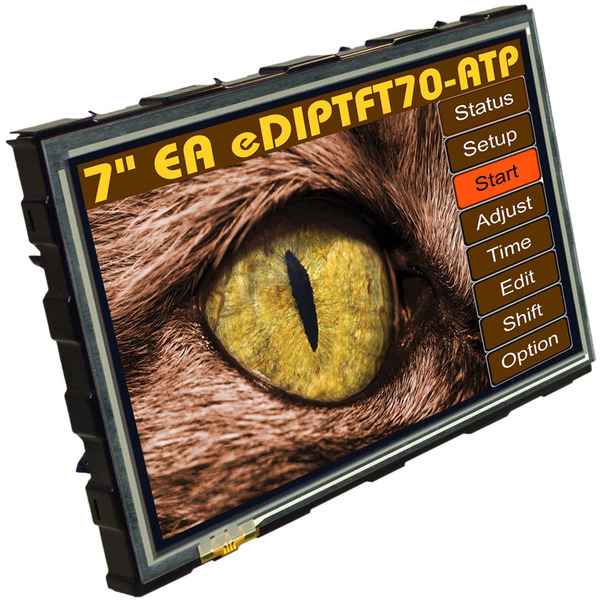 Electronic Assembly LCD-Bedieneinheit mit Touch TFT EA eDIPTFT70-ATP 17,78 cm (7'') 800x480 Pixel
