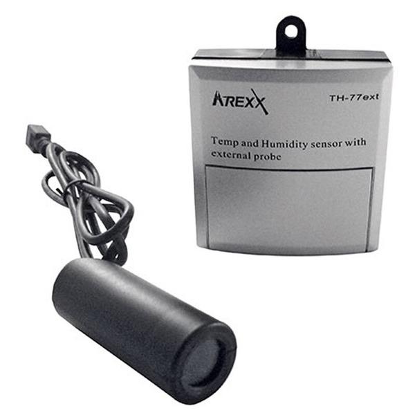 AREXX Funk-Datenlogger-System, Sender mit Kabel-Temp.-/Feuchtesensor TSN-TH77EXT