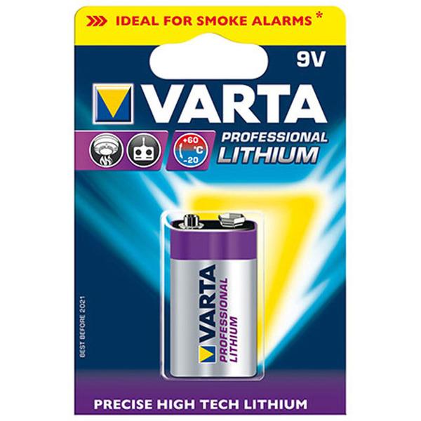 Varta ULTRA Lithium-Batterie 9-V-Block, 1200 mAh