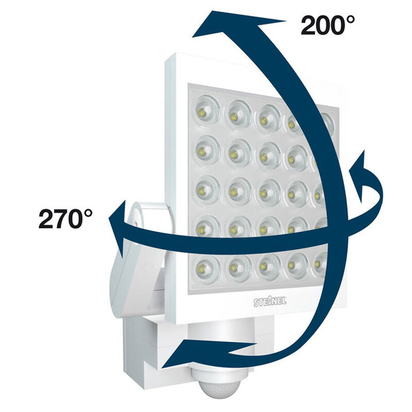 Steinel XLED 25 Profi-Sensor-LED-Strahler mit Bewegungsmelder, weiß