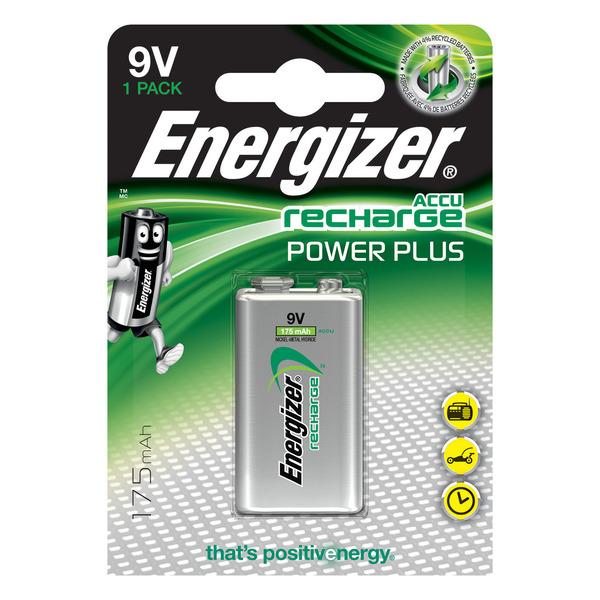 Energizer PowerPlus NiMH-Akku 9-V-Block, 175 mAh