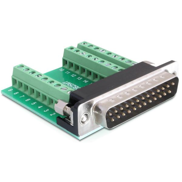 Delock Adapter Terminalblock > Sub-D 25Pin Stecker