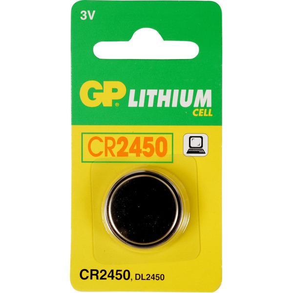 GP Lithium Knopfzelle CR 2450, Blister 1