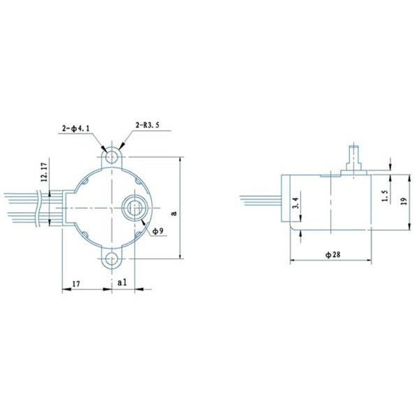 Schrittmotor 12 V DC 32 mA (Winkel 5,625°/ 64 Schritte)