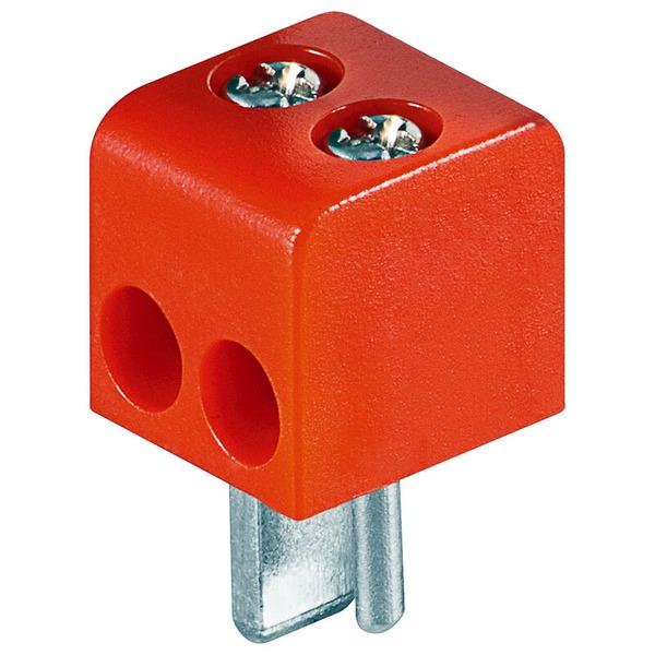 Lautsprecher-Stecker mit Schraubanschluss, rot/schwarz