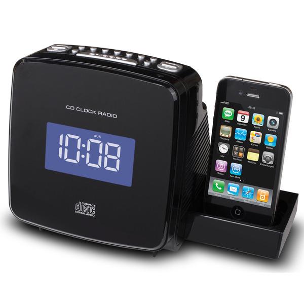 soundmaster CD/MP3 Uhrenradio mit iPod/iPhone Docking