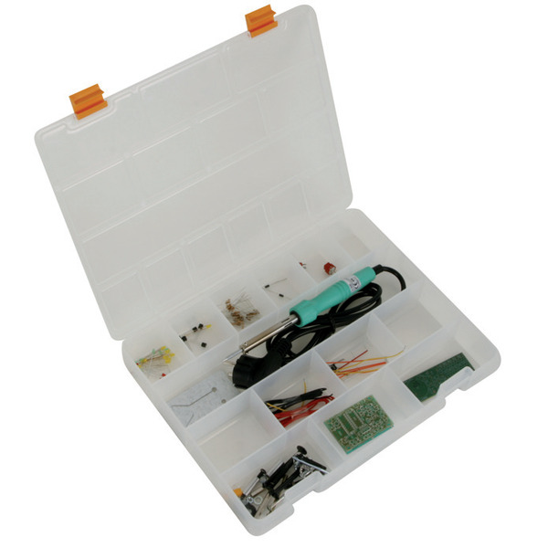 Velleman EDU03 Löt-Lernpaket, 30 W, 230 V, inkl. 2 Bausätzen