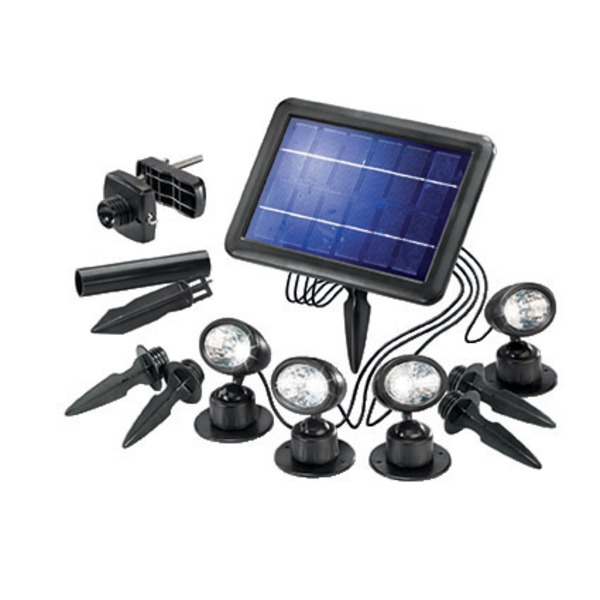 esotec Solarspot Quattro Power Solar-LED-Beleuchtungs-Set