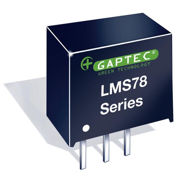 GAPTEC DC-DC-Wandler (Pol) 3,3V / 0,5A - Serie LMS78_0.5A - Eingangsspannung 4,75 V bis 28 V