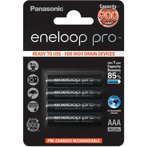 Panasonic eneloop 4er-Pack NiMH-Akkus, Micro 900 mAh