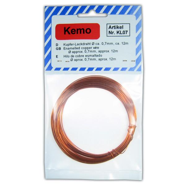 Kemo Kupferlackdraht Ø 0,7 mm, 12 m KL007