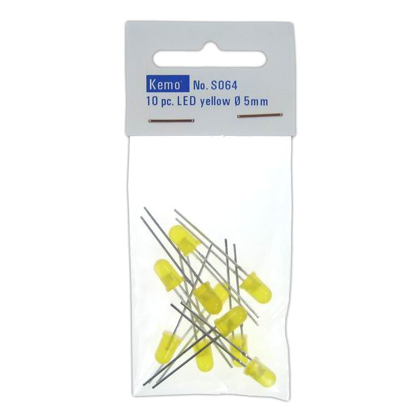 Kemo LED Ø 5 mm gelb ca. 10 Stück S064