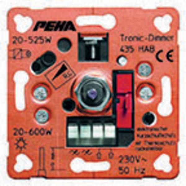 Peha TRONIC 435 HAB Phasenabschnitt-Drehdimmer 20-525 W für Niedervolt-Halogenlampen