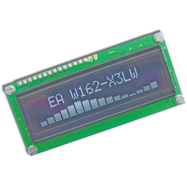 Electronic Assembly OLED-Display EAW162-X3LW 2x16, character 5,5 mm, weiß