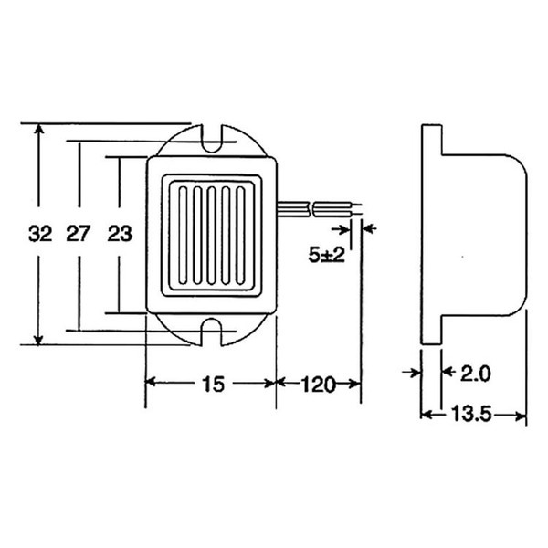HITPOINT Piezo-Signalgeber selbsterregend 8–16 V