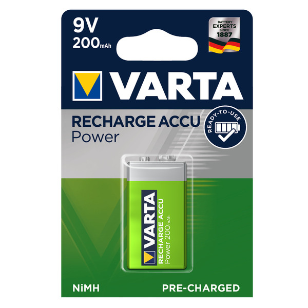 Varta Recharge Akku Power 9V 200mAh