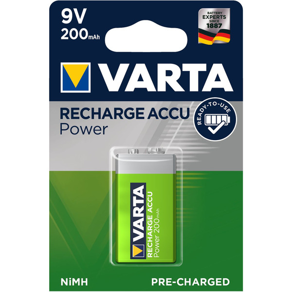 VARTA RECH.ACCU Power 9V 200mAh Blister 1