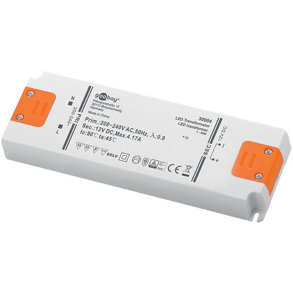 50-W-LED-Netzteil superflach, 12 V DC
