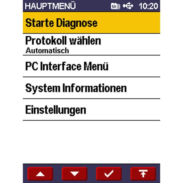 Diamex Scandevil II Handheld-OBD-2-Diagnosescanner mit Farbdisplay