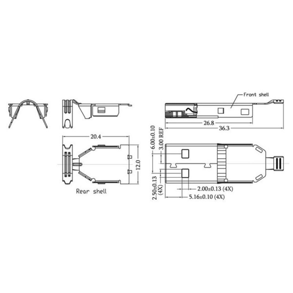 econ connect USB-Stecker 3.0 Typ A USB3AMS, Lötanschluss