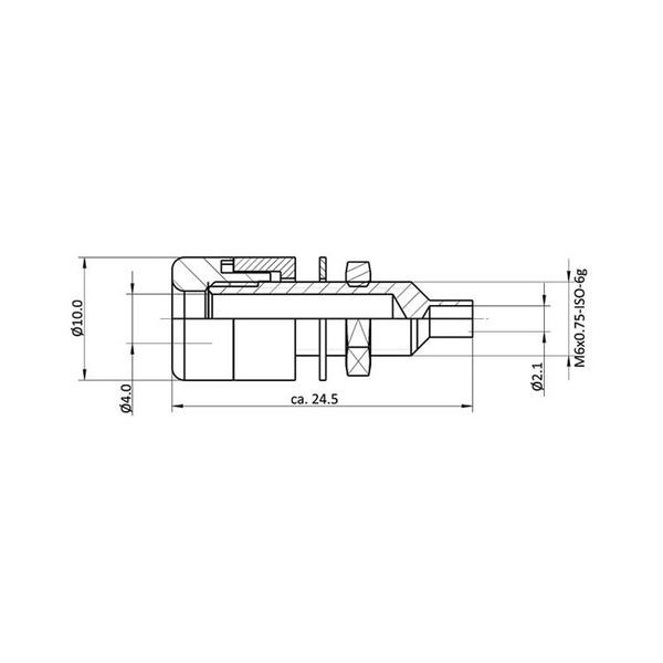 econ connect Telefon-Buchse TB4SW, 4 mm, schwarz