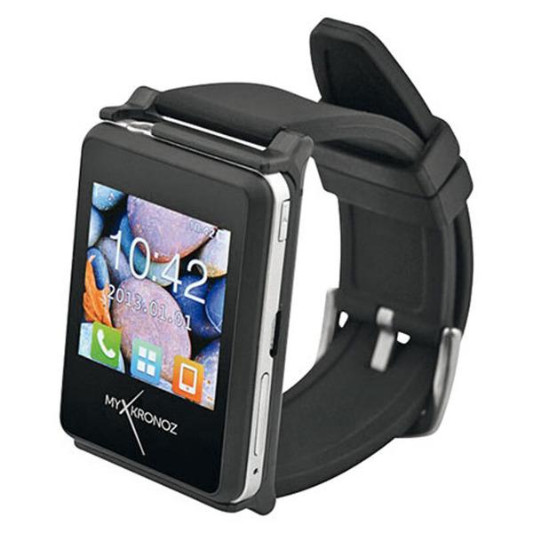 MyKronoz Smartwatch ZeNano für Android und iOS, schwarz