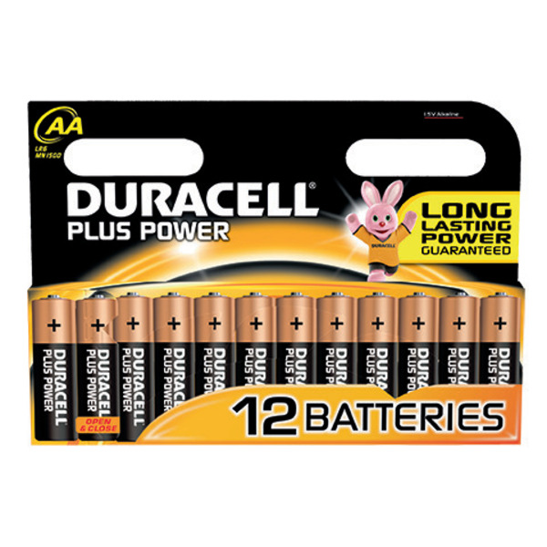 Duracell Plus Power Alkaline-Batterie MN 1500 Mignon, 1,5 V, 12er-Pack