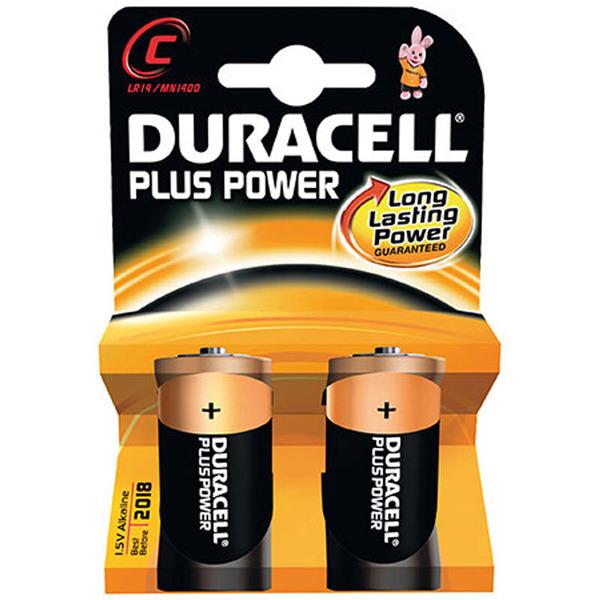 Duracell Plus Power Alkaline-Batterie, Baby 1,5 V, 2er-Pack