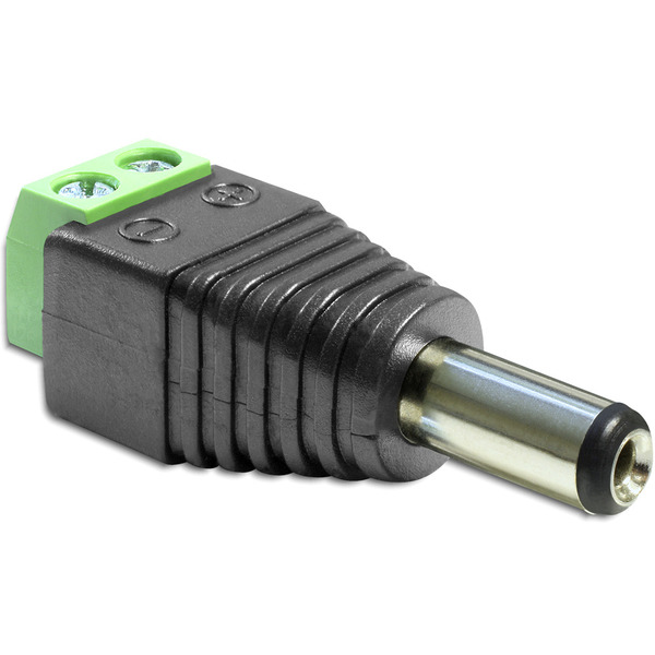 Delock Adapter Terminalblock > DC 2,5 x 5,5 mm Stecker