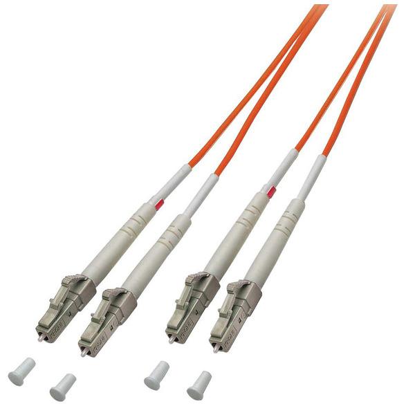 LINDY LWL-Duplex Kabel LC / LC, 50/125 µm, Multimode, 2m