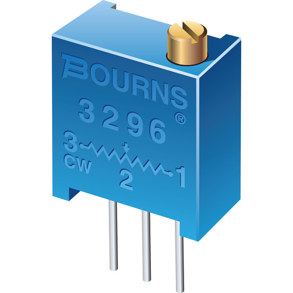 Bourns Trimmer 3296P-1-201LF, stehend, 200 Ω