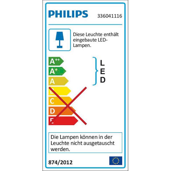 Philips Feuille 2,5-W-LED-Wandleuchte, 2-flammig