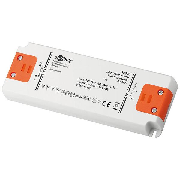 Goobay 30-W-LED-Netzteil slim, 24 V DC