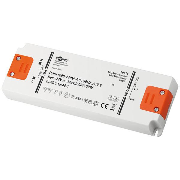 Goobay 50-W-LED-Netzteil slim, 24 V DC