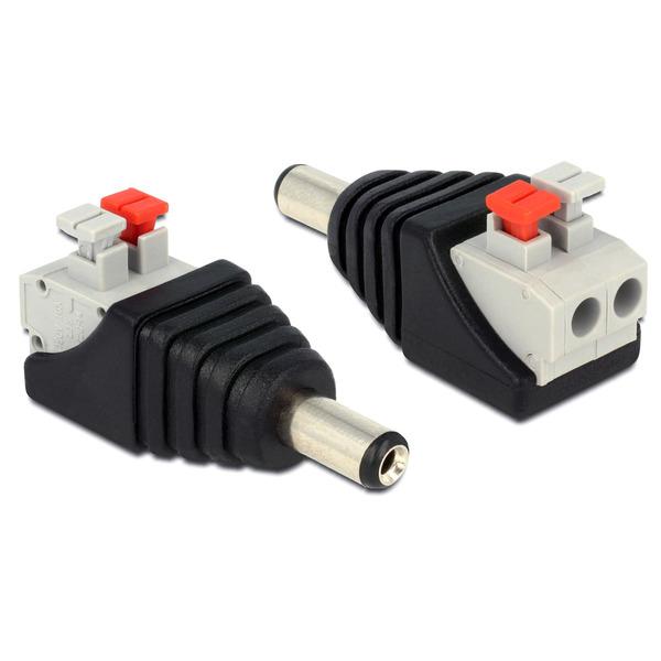 Delock Adapter Terminalblock mit Drucktaste > DC 2,1 x 5,5 mm Stecker