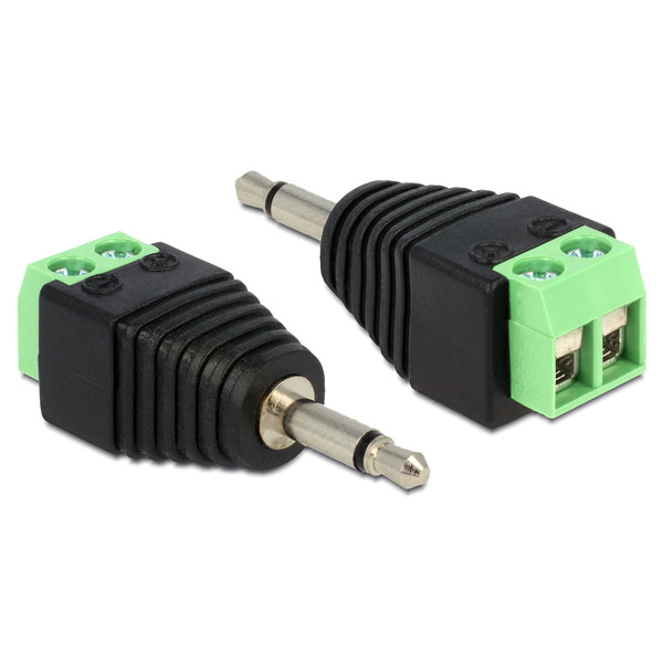 Delock Adapter Terminalblock > Klinke 3,5mm Stecker 2 Pin