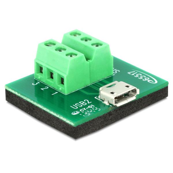 Delock Adapter Terminalblock > Micro USB Typ B Buchse