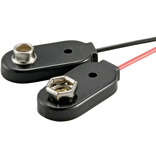 Goobay Batterieclip für 9-V Blöcke , einzeln