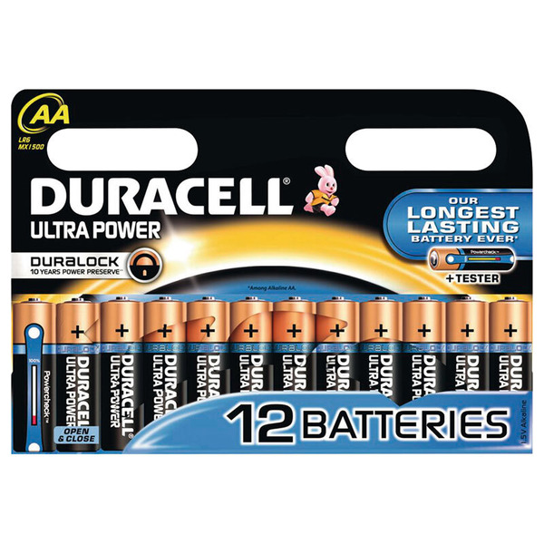 Duracell Ultra Power Alkaline Batterie LR6 (Mignon/AA), 12er Pack