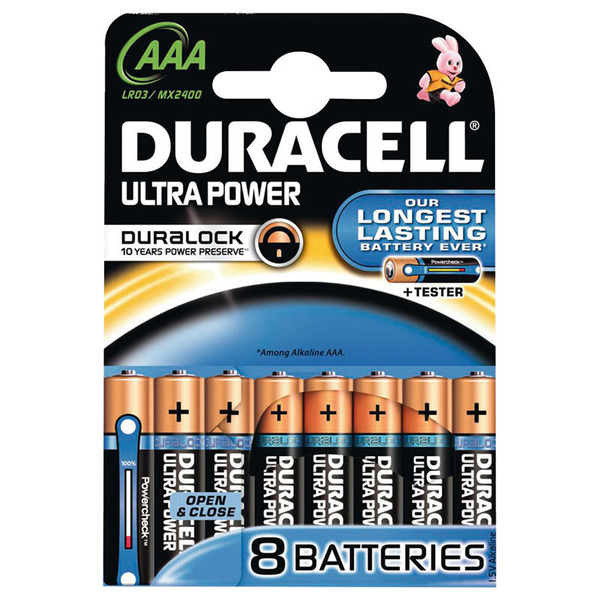 Duracell Ultra Power Alkaline Batterie LR03 (Micro/AAA), 8er Pack