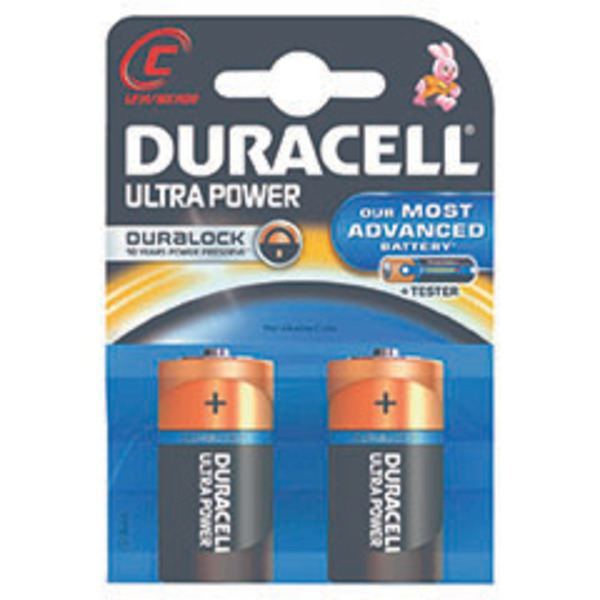 Duracell Ultra Power Alkaline Batterie LR14 (Baby/C), 2er Pack