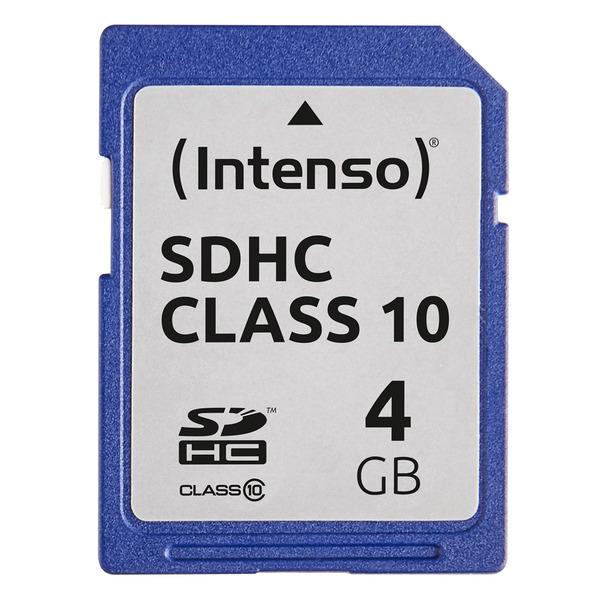 Intenso Speicherkarte SDHC, Class 10, 20 MB/s, 4 GB