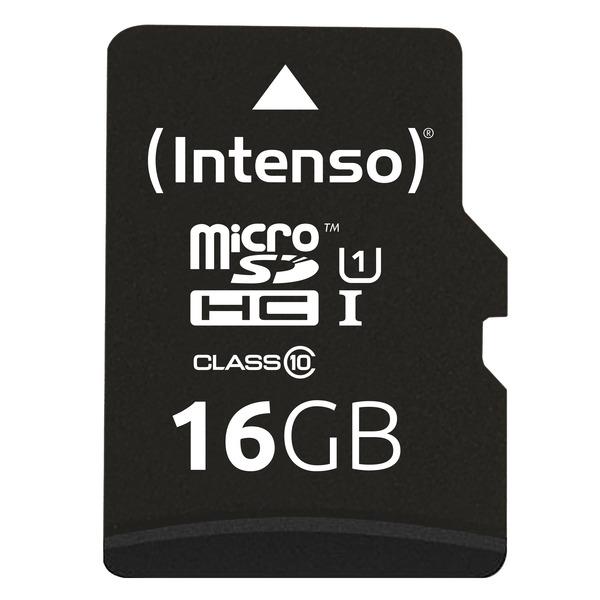 Intenso microSDXC-Karte UHS-I Premium, Class 10, mit SD-Adapter, 45 MB/s, 16 GB