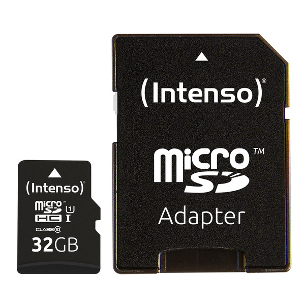 Intenso microSDXC-Karte UHS-I Premium, Class 10, mit SD-Adapter, 45 MB/s, 32 GB