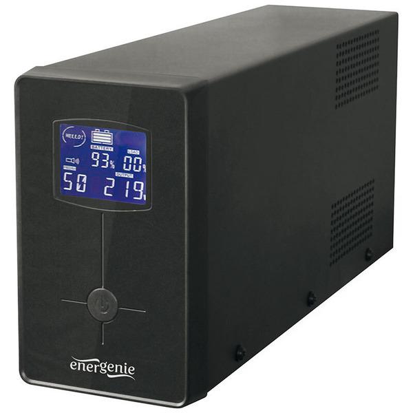 Energenie USV-Anlage mit LCD Anzeige,1200 VA, schwarz