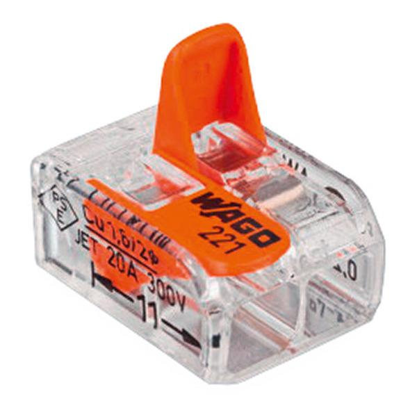 Wago 221-412 COMPACT Verbindungsklemme 2 x 4 mm², 100 Stück