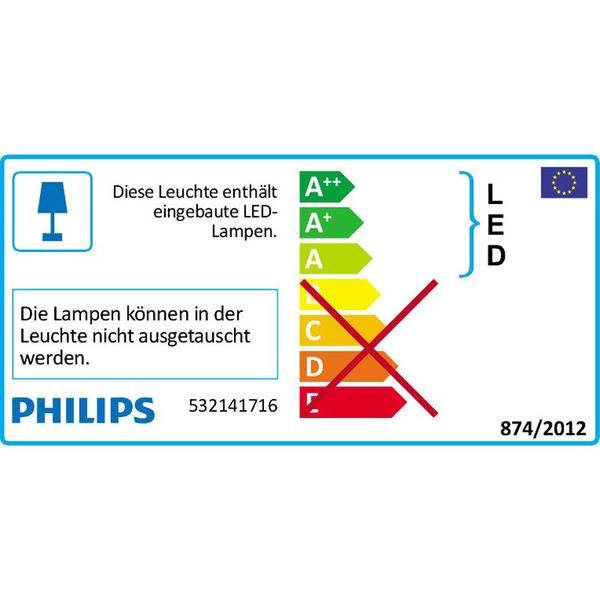 Philips Maple 16-W-LED-Deckenleuchte mit 4 Spots, Stahl gebürstet