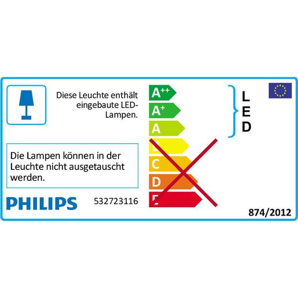 Philips Rimus 8-W-LED-Deckenleuchte mit 2 Spots, weiß