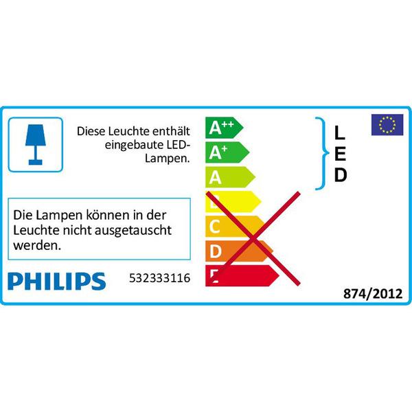 Philips Dyna 9-W-LED-Deckenleuchte mit 3 Spots, weiß