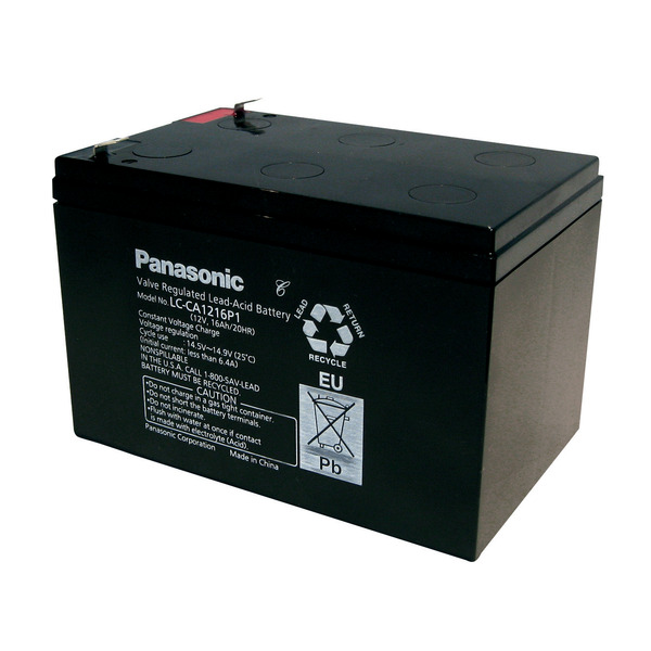 Panasonic Blei-AGM-Akku LC-CA1216P1, 12V, 16Ah, zyklenfest, wartungsfrei